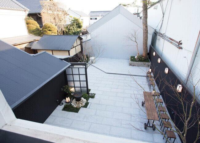 二階から見下ろす庭