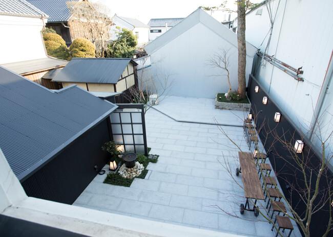 イベントなどで利用できる庭のスペース